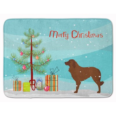 Portuguese Sheepdog Dog Christmas Tree Memory Foam Bath Rug