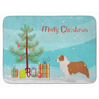 Australian Shepherd Dog Christmas Tree Memory Foam Bath Rug