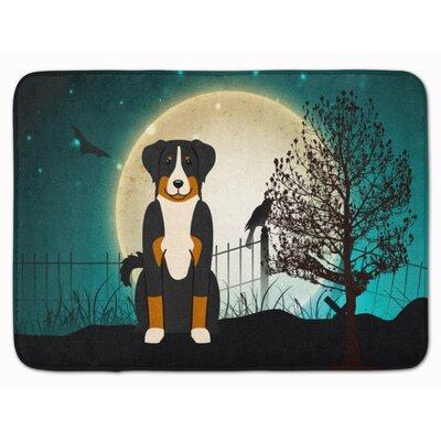 Halloween Scary Appenzeller Sennenhund Memory Foam Bath Rug