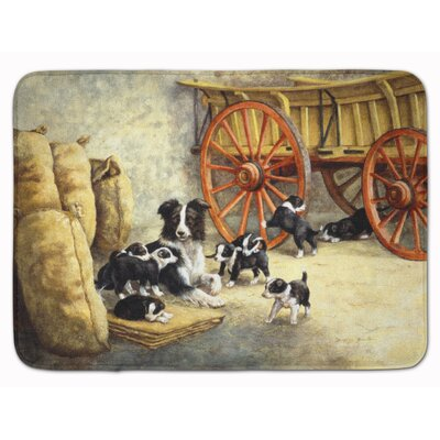 Border Collie Dog Litter Memory Foam Bath Rug