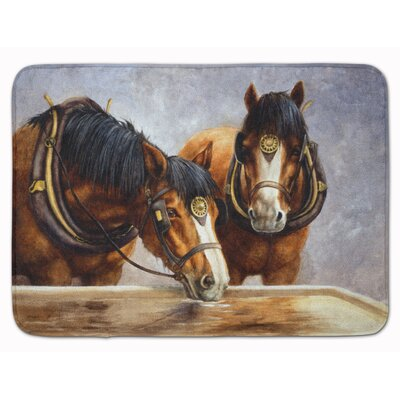 Horse Taking a Drink of Water Memory Foam Bath Rug