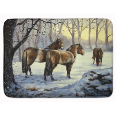 Horse in Snow by Daphne Baxter Memory Foam Bath Rug