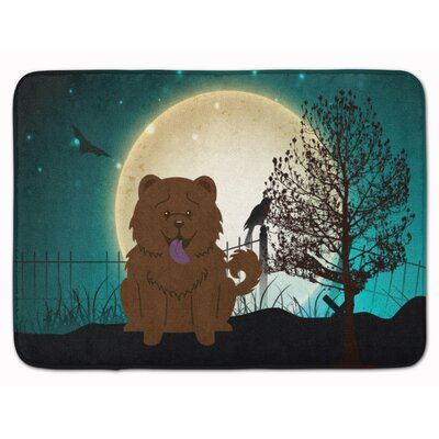 Halloween Scary Chow Chow Memory Foam Bath Rug Color: Chocolate