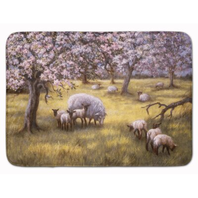 Sheep by Daphne Baxter Memory Foam Bath Rug
