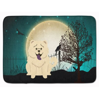 Testa Scary Chow Chow Memory Foam Bath Rug Color: White