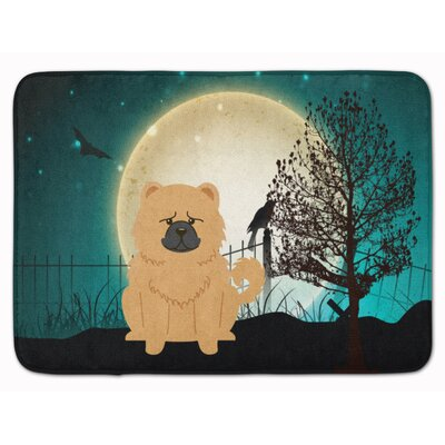 Testa Scary Chow Chow Memory Foam Bath Rug Color: Cream