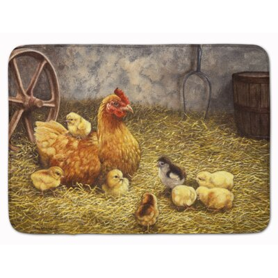 Levi Chicken Hen and Her Chicks Memory Foam Bath Rug