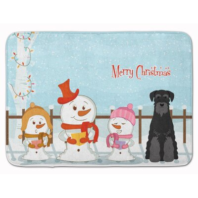 Christmas Standard Schnauzer Memory Foam Bath Rug Color: Black