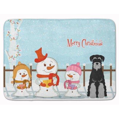 Christmas Standard Schnauzer Memory Foam Bath Rug Color: Black/Gray