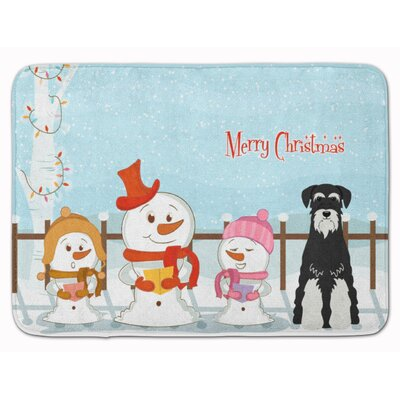 Christmas Standard Schnauzer Memory Foam Bath Rug Color: Black/White