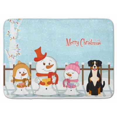 Merry Christmas Carolers Entlebucher Memory Foam Bath Rug