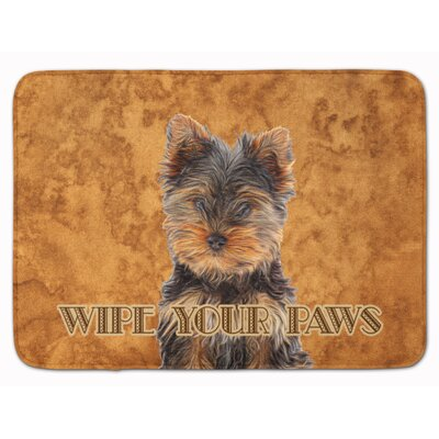 Yorkie Puppy Yorkshire Terrier Memory Foam Bath Rug