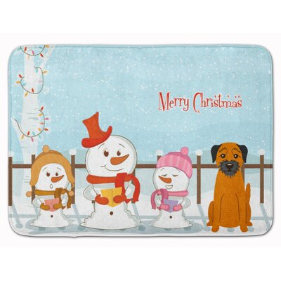 Merry Christmas Carolers Border Terrier Memory Foam Bath Rug