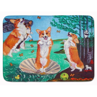 Corgi Birth of Venus Memory Foam Bath Rug