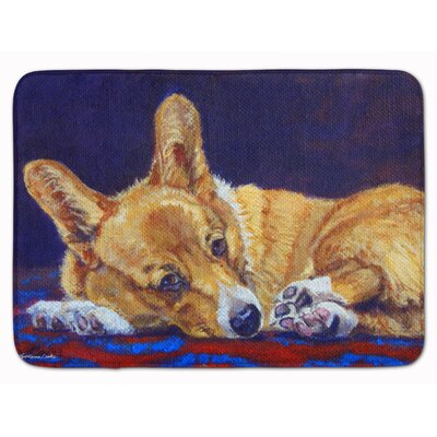 Corgi Lonesome Memory Foam Bath Rug