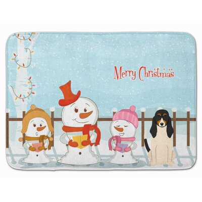 Merry Christmas Carolers Swiss Hound Memory Foam Bath Rug