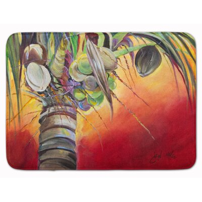 Sunset on the Coconut Tree Memory Foam Bath Rug