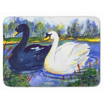 Bird Swan Memory Foam Bath Rug