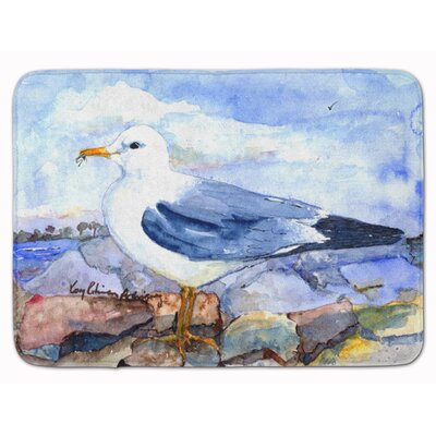 Bird Thayers Gull Memory Foam Bath Rug