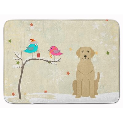 Christmas Presents Labrador Memory Foam Bath Rug