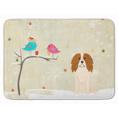 Christmas Presents Cavalier Spaniel Memory Foam Bath Rug