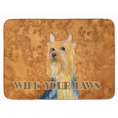 Silky Terrier Wipe your Paws Memory Foam Bath Rug