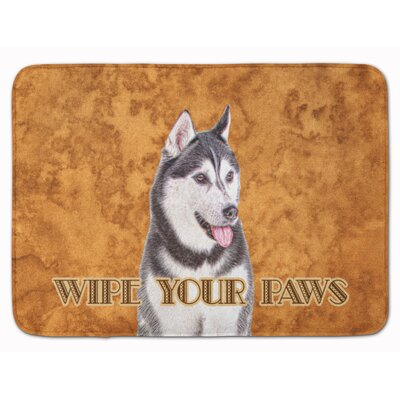 Alaskan Malamute Wipe your Paws Memory Foam Bath Rug