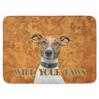 Jack Russell Terrier Wipe your Paws Memory Foam Bath Rug