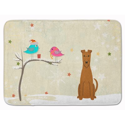 Christmas Presents Friend Irish Terrier Memory Foam Bath Rug