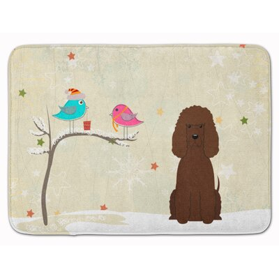 Christmas Presents Irish Water Spaniel Memory Foam Bath Rug