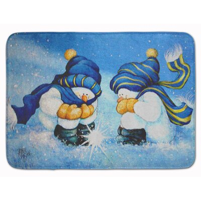 Snowman We Believe in Magic Memory Foam Bath Rug