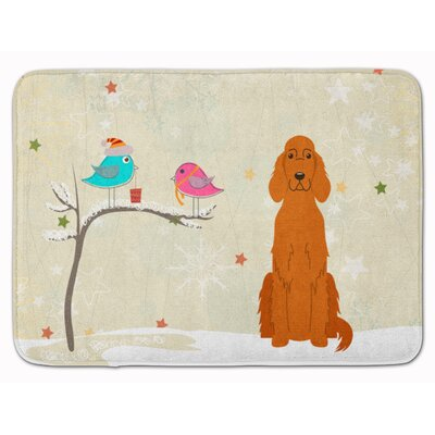 Christmas Presents Friends Irish Setter Memory Foam Bath Rug