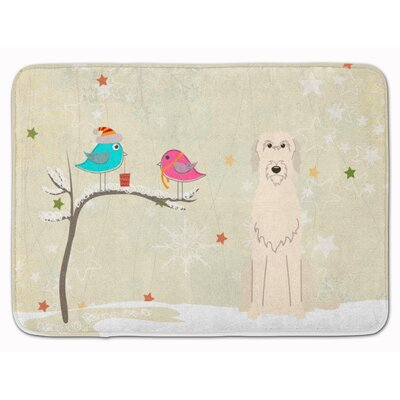 Christmas Presents Irish Wolfhound Memory Foam Bath Rug