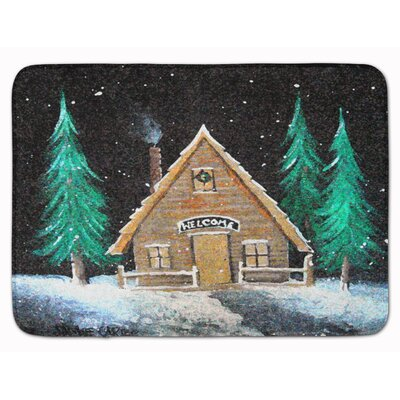 Welcome Lodge Christmas Log Home Memory Foam Bath Rug
