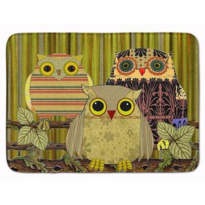 Fall Wisdom Owl Memory Foam Bath Rug