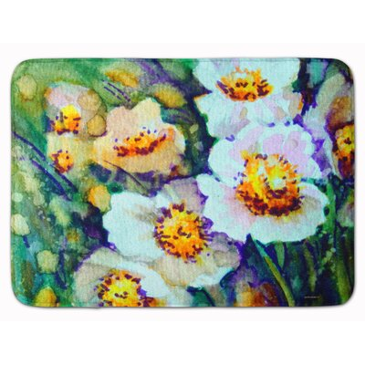 Raindrops on Poppies Memory Foam Bath Rug