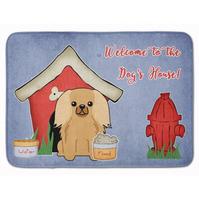 Dog House Pekingese Memory Foam Bath Rug Color: Sable