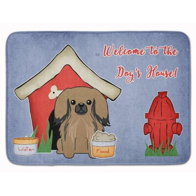Dog House Pekingese Memory Foam Bath Rug Color: Tan