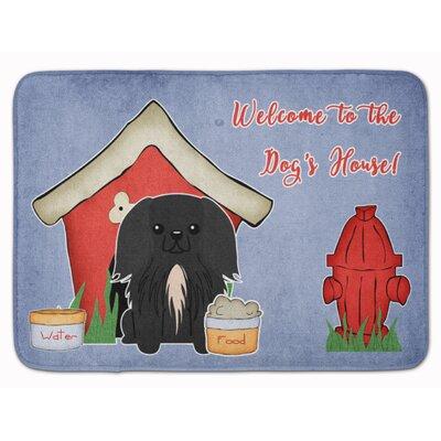 Dog House Pekingese Memory Foam Bath Rug
