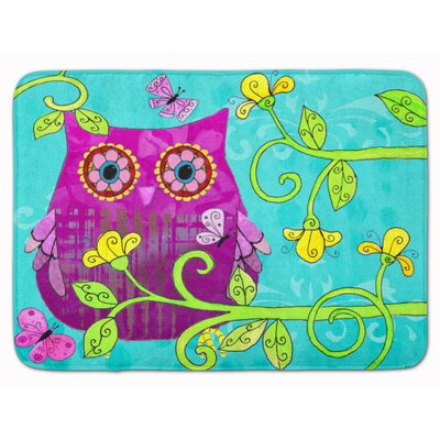Sittin in the Flowers Owl Memory Foam Bath Rug
