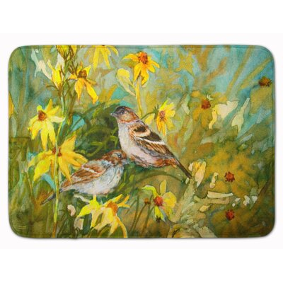 Sparrows in the Field Memory Foam Bath Rug