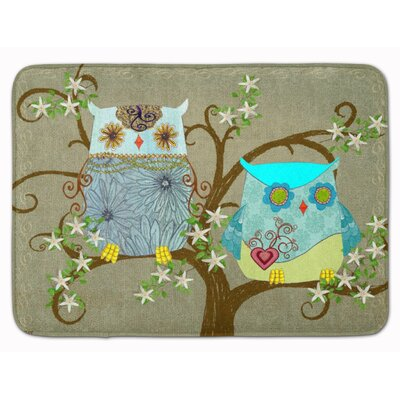Zachary Owl The Friendly Ladies Memory Foam Bath Rug