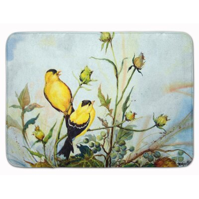 Joyful Morning Birds Memory Foam Bath Rug
