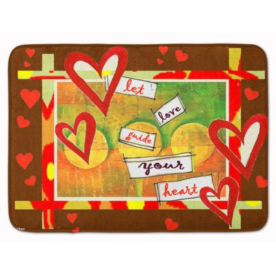 Let Love Guide Your Heart Valentines Memory Foam Bath Rug