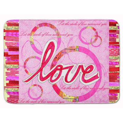 Love is a Circle Valentines Day Memory Foam Bath Rug