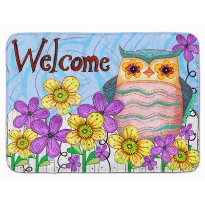 Welcome Owl Memory Foam Bath Rug