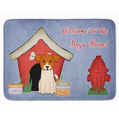 Dog House Jack Russell Terrier Memory Foam Bath Rug