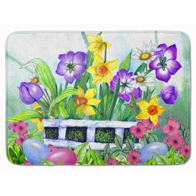 Ivor Easter Eggs Finding Memory Foam Bath Rug