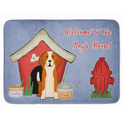 Dog House English Foxhound Memory Foam Bath Rug