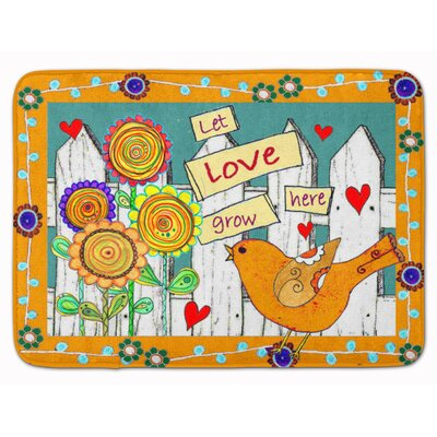 Let Love Grow Here Memory Foam Bath Rug